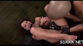 Ribald slut loves being fucked by hard cock in bdsm style