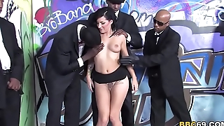 Tori Lux Gets Her Face Gangbanged By Big Stygian Cocks