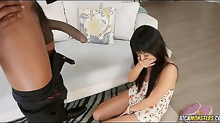 Shy Japanese Girl Marica Hase Gets Monster Anal