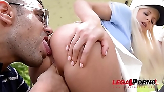 Endless outdoor fucking with golf instructor makes Candee Licious cum hard GP364