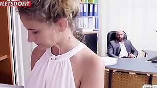 German Secretary Helps her Boss Relax