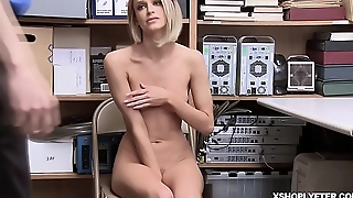Shoplyfter Emma Hix goes down to her knees increased by blowjob the LP Officers cock!
